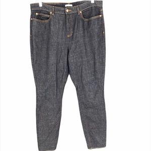 Eileen Fisher skinny jeans 14 dark wash high waist